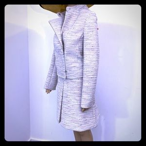J. Crew Asymmetrical Zip Jacket Skirt SET Tweed 12